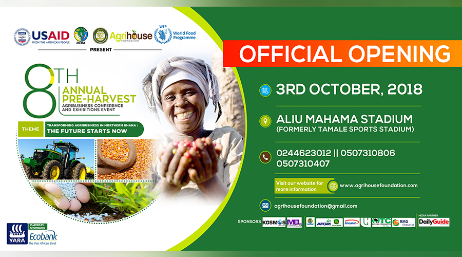 8th   PRE-HARVEST AGRIBUSINESS EXHIBITION & CONFENRENCE SET FOR OCTOBER