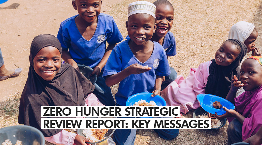 ZERO HUNGER STRATEGIC REVIEW REPORT: KEY MESSAGES