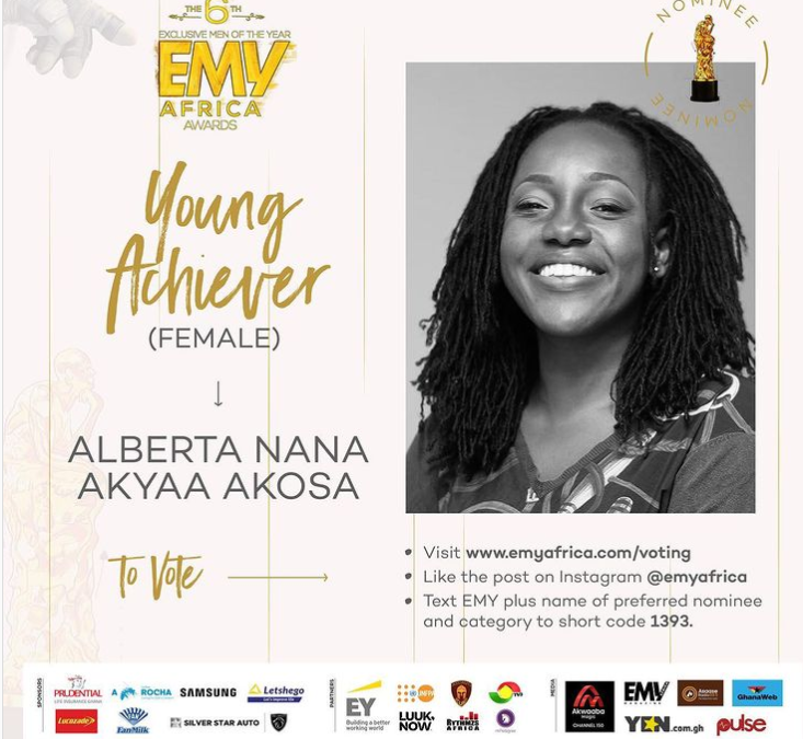 The Executive Director of Agrihouse Foundation, nominated for the 𝐘𝐨𝐮𝐧𝐠 𝐀𝐜𝐡𝐢𝐞𝐯𝐞𝐫 – 𝐅𝐞𝐦𝐚𝐥𝐞 at the 6th edition of the EMY Africa awards.